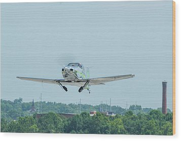Cracker Fly-in Wood Print by Michael Sussman