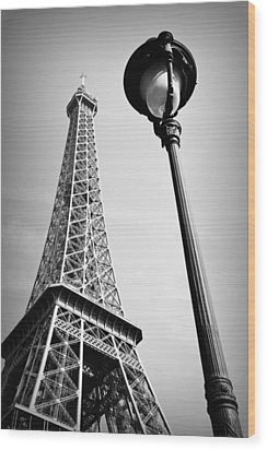 Eiffel Tower Wood Print by Chevy Fleet
