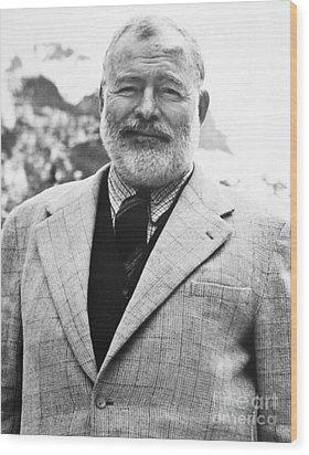 Ernest Hemingway Wood Print by Granger