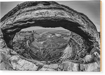 famous Mesa Arch in Canyonlands National Park Utah  USA Wood Print by Alex Grichenko