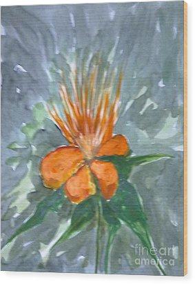 Love Flowers Wood Print by Baljitchadha