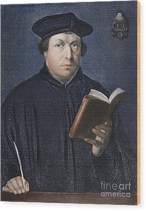Martin Luther (1483-1546) Wood Print by Granger