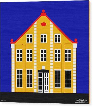 7 North Street Wood Print by Asbjorn Lonvig