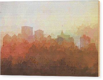 Wood Print featuring the digital art Oakland California Skyline by Marlene Watson