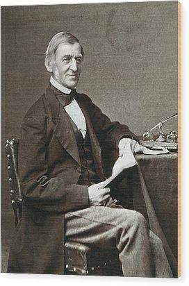 Ralph Waldo Emerson Wood Print by Granger