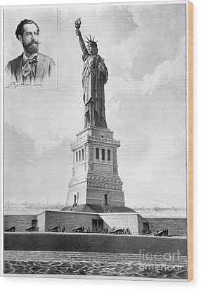 Statue Of Liberty, 1886 Wood Print by Granger