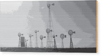Wood Print featuring the photograph 70/mph by Max Mullins