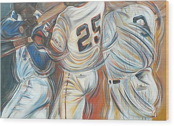 700 Homerun Club Wood Print by Redlime Art