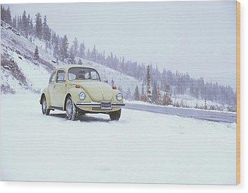 71 Vw Bug Wood Print