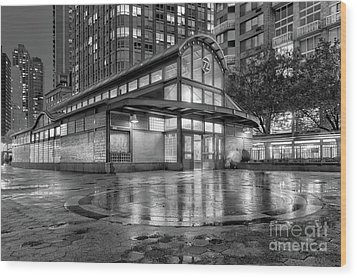 72nd Street Subway Station Bw Wood Print by Jerry Fornarotto
