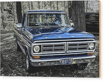Wood Print featuring the photograph 73 Ford Pickup by Brad Allen Fine Art