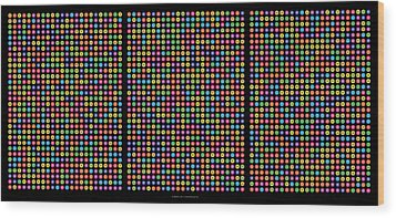 768 Digits Of Pi Up To Feynman Point, E And Phi Wood Print by Martin Krzywinski