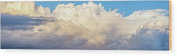 Wood Print featuring the photograph Clouds by Les Cunliffe