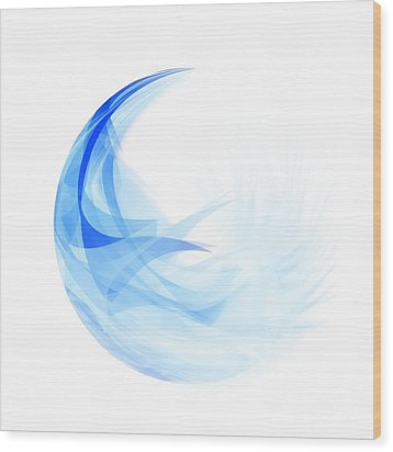 Wood Print featuring the painting Abstract Feather by Setsiri Silapasuwanchai