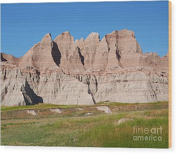 Badlands National Park South Dakota Wood Print by Louise Heusinkveld