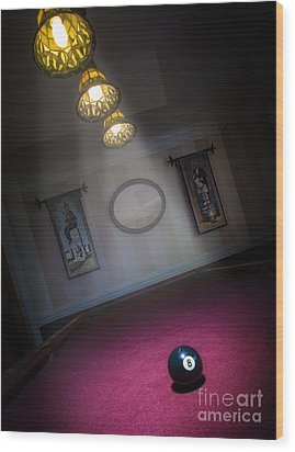 Wood Print featuring the photograph 8 Ball by Brian Jones