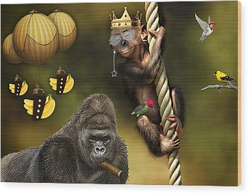 Bananas Wood Print by Marvin Blaine