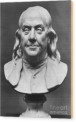 Benjamin Franklin (1706-1790) Wood Print by Granger