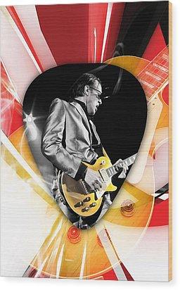 Joe Bonamassa Blues Guitarist Art Wood Print by Marvin Blaine