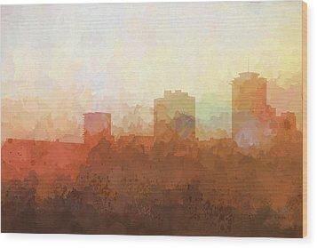 Wood Print featuring the digital art New Orleans Louisiana Skyline by Marlene Watson