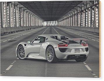 Porsche 918 Spyder  Wood Print
