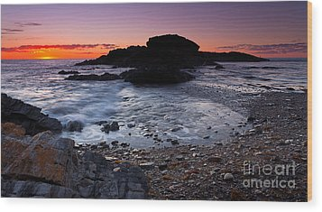 Wood Print featuring the photograph Second Valley Sunset by Bill Robinson