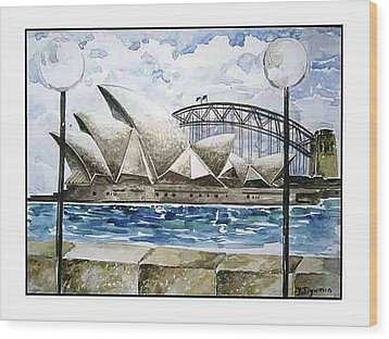 Sydney Opera House Wood Print by Yelena Revis