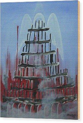 9-11 Wood Print by Jorge Parellada