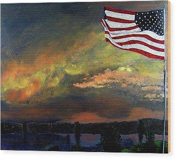 9-11 Wood Print by Stan Hamilton