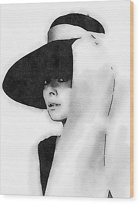 Audrey Hepburn Wood Print by John Springfield
