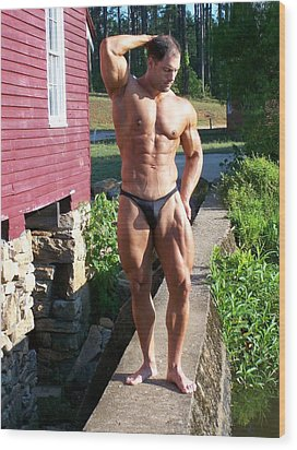 Male Muscle Art Marius Wood Print
