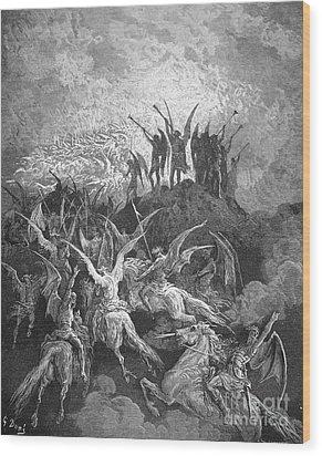 Milton: Paradise Lost Wood Print by Granger