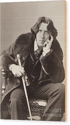 Oscar Wilde (1854-1900) Wood Print by Granger