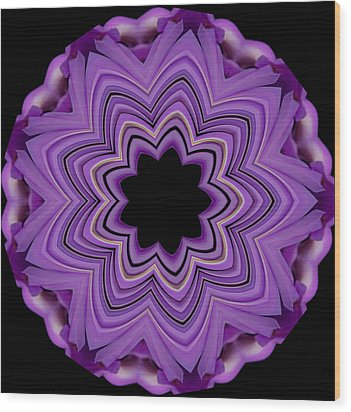 Wood Print featuring the photograph 9 Petaled Design by Baha'i Writings As Art