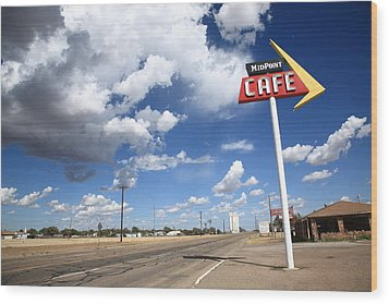 Route 66 Cafe Wood Print