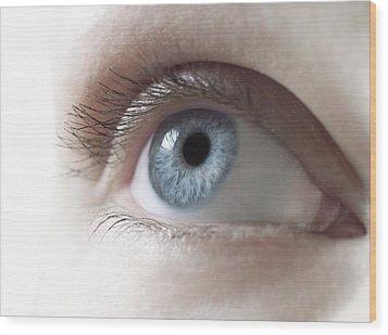 Woman's Eye Wood Print by