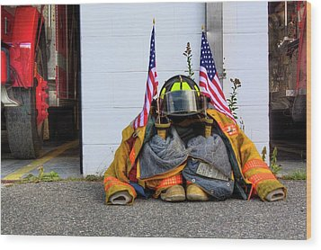 Wood Print featuring the photograph 911 Tribute IIi by Greg DeBeck