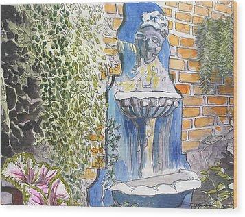 92  Gumbo Shop Courtyard Courtyard Wood Print by John Boles