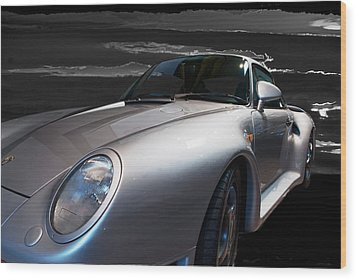 959 Porsche Wood Print by Paul Barkevich