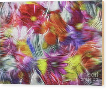 9a Abstract Expressionism Digital Painting Wood Print
