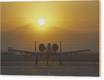 A-10 Warthog Wood Print by Tim Grams