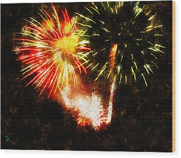 A 4th Celebration  Wood Print by Adam Vance