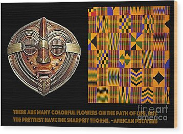 A  African Proverb Wood Print by Jacqueline Lloyd