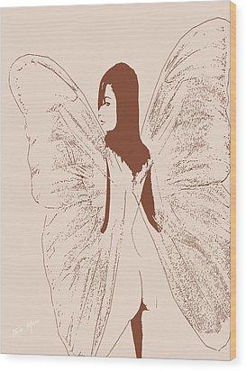 A Backward Look Wood Print by Tray Mead