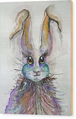 A Bad Hare Day Wood Print by Rosemary Aubut
