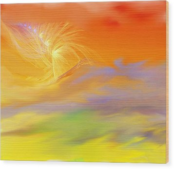 A Band Of Angels Coming After Me Wood Print by David Lane