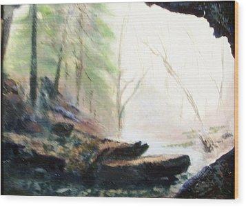 A Bears View Wood Print by Gail Kirtz