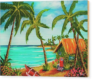 A Beautiful Day  Oahu #357 Wood Print by Donald k Hall