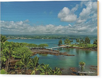 A Beautiful Day Over Hilo Bay Wood Print