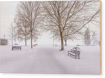 Wood Print featuring the photograph A Beautiful Winter's Morning  by John Poon